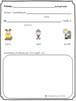 Common Core Response Sheets for Literary and Information Text