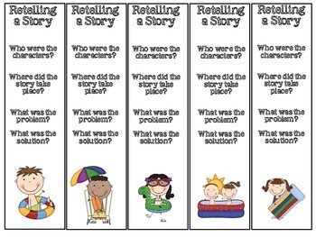 Common Core: Retelling Story Map Cards