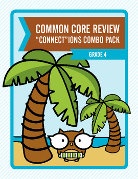 """Common Core Review """"Connect""""ions Combo Pack:  Grade 4"""