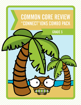 """Common Core Review """"Connect""""ions Combo Pack:  Grade 5"""