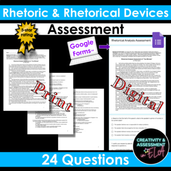 Rhetorical Analysis / Rhetorical Device Assessment (Common Core SBAC)