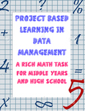 Common Core Rich Math Task in Data Management NO PREP