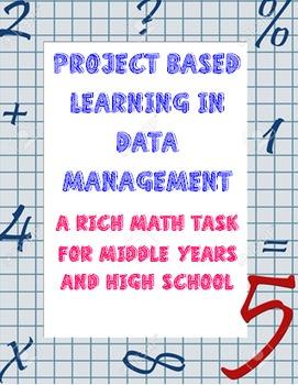 Common Core Rich Math Task in Data Management NO PREP