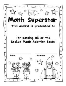 Common Core Rocket Math Facts