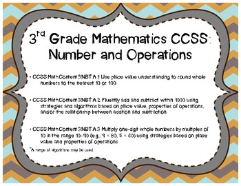 Common Core Rounding, Adding, Subtracting, and More! Assessment Pack