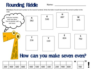 Common Core: Rounding Numbers To The Nearest 100