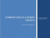 Common Core Rubric -6th Grade Argument (Student-Friendly Language)