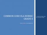 Common Core Rubric -6th Grade Narrative (Student-Friendly Language)