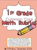 Common Core Rubrics: 1st Grade Math (Tracking Student Progress)