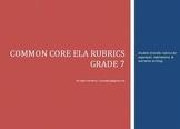 Common Core Rubrics - Student Friendly - Argument/Informat
