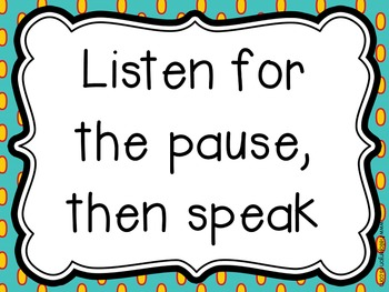 Common Core Rules for Discussion {Speak Up!} Speaking & Listening 1.a