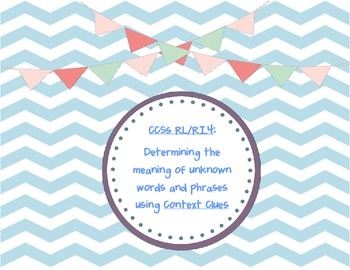 Common Core SS RL/RI.4-Context Clues Differentiated Gr. Or