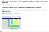 Common Core STEAM Lesson 1st Grade Flower Garden Design