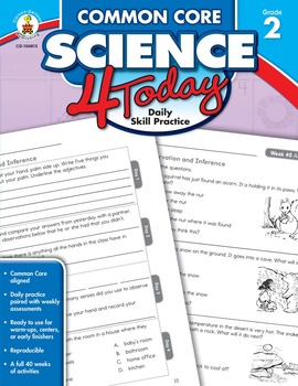 Common Core Science 4 Today Grade 2 SALE 20% OFF CD-104813