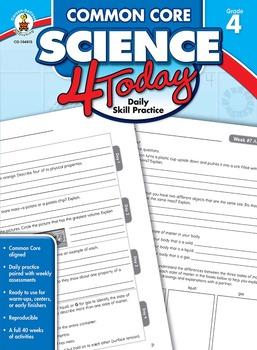 Common Core Science 4 Today Grade 4 SALE 20% OFF CD-104815