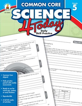 Common Core Science 4 Today Grade 5 SALE 20% OFF CD-104816