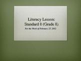 Common Core Science Literacy Lesson (Standard 8)