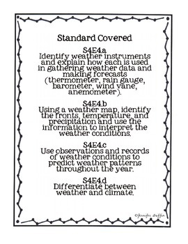Common Core: Science Standard: Weather Common Assessment