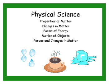 Common Core Science Teaching Points- Physical Science