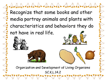 Common Core Science Teaching Points for Org. & Dev. of Living Things