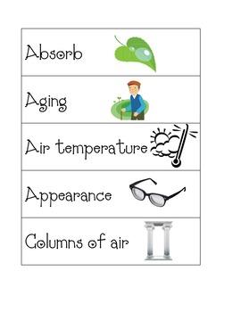 Common Core Science Vocab 2nd grade