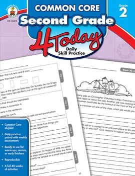 Common Core Second Grade 4 Today SALE 20% OFF CD-104819