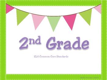 Common Core Second Grade ELA Statement Posters