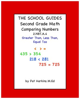 Common Core Second Grade Greater Than, Less Than, Equal To 2.NBT.A.4