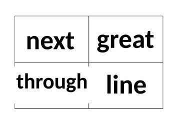 Common Core Second Grade High Frequency Words/Flashcards