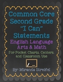 Common Core Second Grade I Can Statements-ELA & Math-Chalk