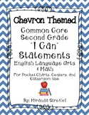 Common Core Second Grade I Can Statements-ELA & Math-Chevron Themed