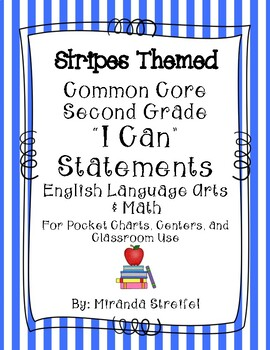 Common Core Second Grade I Can Statements-ELA & Math-Strip