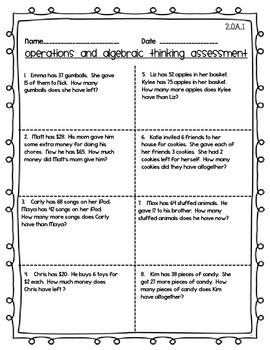Common Core Second Grade Math Bundle Assessment!  CCSS