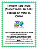 Common Core Second Grade Social Studies' 2.H.1 Instructional Packet
