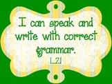 Common Core Second Grade Standards - LANGUAGE Part 1