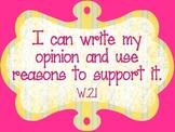 Common Core Second Grade Standards - WRITING