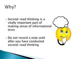 Common Core: Second-Read Thinking for Informational Texts (PowerPoint)