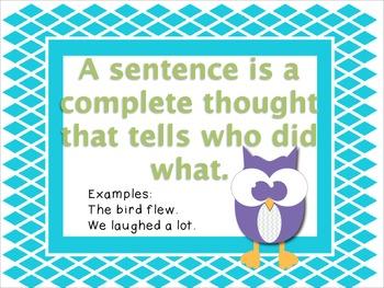 Common Core Sentence/Fragment Unit
