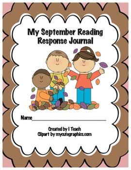 Common Core September Reading Response Journal