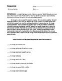 Common Core - Sequence Text Structure Worksheets