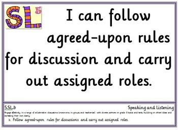 Common Core Fifth and Sixth Grade ELA Posters