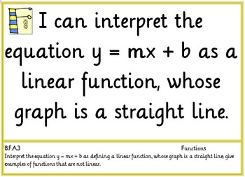 Common Core Seventh and Eighth Grade Math Posters