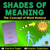 Shades of Meaning Concept Building Vocabulary Activities