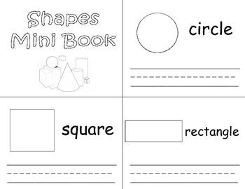 Common Core Shapes Mini Book Trace and Write