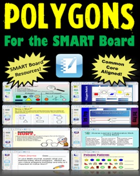 Common Core Shapes and Polygons for the SMART Board