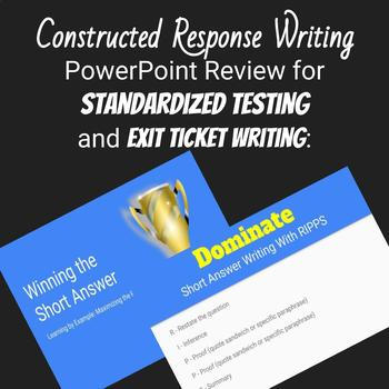 Common Core Short Answer Writing Power Point and Graphic Organizer Gr. 6-8