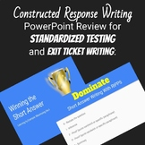 Common Core Short Answer Writing Power Point and Graphic O