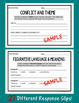 Common Core Short Response/Exit Slips for ANY Literature