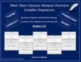 Short Story Literary Elements Graphic Organizers Common Core