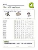 """Common Core - Short Vowel """"a, e, i, o, u"""" Word Search!  10"""